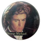 George Michael - 'Looking Down' Button Badge